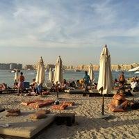 Photo taken at Barasti Beach by Dimitrios B. on 2/10/2012