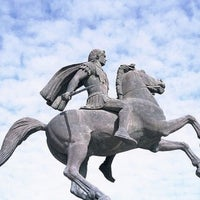 Photo taken at Άγαλμα Μεγάλου Αλεξάνδρου by George B. on 8/18/2011