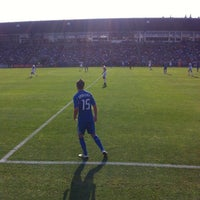 Photo taken at Stade Saputo by Pierre-Gilles M. on 8/26/2012