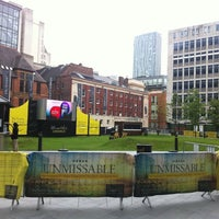 Photo taken at Spinningfields Square by Richard W. on 6/5/2011