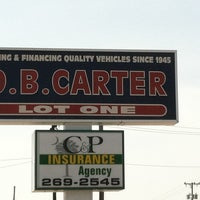 Photo taken at D.B Carter Used Cars by Paul C. on 8/3/2011