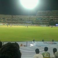 Photo taken at Rajiv Gandhi Cricket Stadium by Rehan A. on 9/19/2011