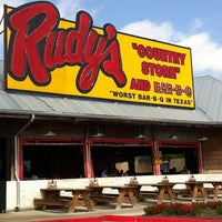Photo taken at Rudy's Country Store & Bar-B-Q by Samantha J. on 4/10/2011