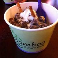 Photo taken at Bamboo Frozen Yogurt Café by Nicole M. on 6/9/2012
