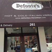 Photo taken at Defonte's of Brooklyn by Christopher T. on 7/3/2012