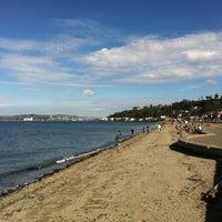 Photo taken at Alki Beach Park by Allan B. on 10/8/2011