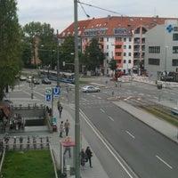 Photo taken at Giesinger Bahnhofsplatz by Tim M. on 7/30/2011
