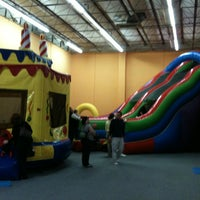 Photo taken at Bounce House Williamsburg by Jay R. on 12/30/2011