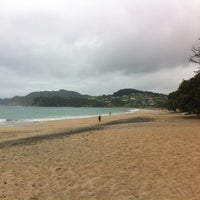 Photo taken at Langs Beach by Hamish R. on 1/3/2012