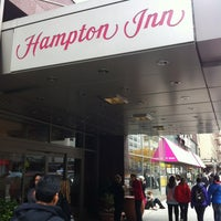 Photo taken at Hampton Inn Manhattan - Times Square North by Morten J. on 11/21/2011