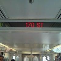 Photo taken at MTA Subway - 167th St (4) by 🚄✈️ Jon ✈️🚄 on 8/31/2011