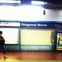Photo taken at Estación Diagonal Norte [Línea C] by Marcelo Q. on 11/21/2011
