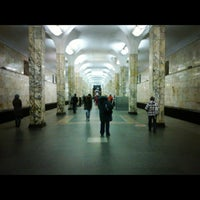 Photo taken at metro Avtozavodskaya by S B. on 11/21/2011