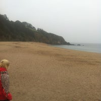 Photo taken at Blackpool Sands by Mikey H. on 3/15/2012