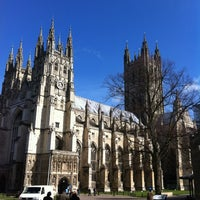 Photo taken at Canterbury Cathedral by Nik S. on 3/8/2012