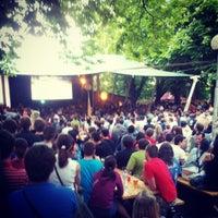 Photo taken at Zahrádky a restaurace Riegrovy sady – Park Café by Jan Š. on 5/20/2012