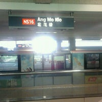 Photo taken at Ang Mo Kio MRT Station (NS16) by Jay D. on 1/5/2012