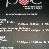 รูปภาพถ่ายที่ POC American Fusion Buffet & Sushi โดย Fede W. เมื่อ 9/7/2011