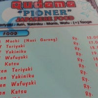 "Photo taken at Qudama ""Pioner"" Japanese Food by Dian K. on 5/2/2012"