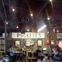 Photo taken at Puckett's Grocery & Restaurant by Nicomom on 4/16/2011