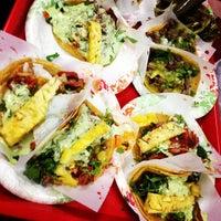 Photo taken at Tacos El Gordo De Tijuana by Melissa P. on 8/8/2012