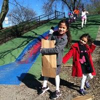 Photo taken at Frick Park Blue Slide Playground by Araceli G. on 4/4/2012