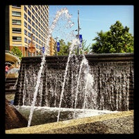 Photo taken at Campus Martius by Jonathan on 5/16/2012