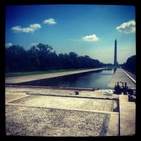 Photo taken at Lincoln Memorial Reflecting Pool by Josh M. on 8/18/2012