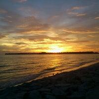 Photo taken at Bagan Lalang Beach by YusFa A. on 4/19/2012
