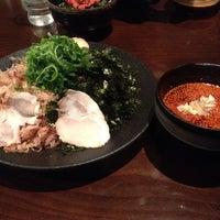 Photo taken at つけ麺本舗 辛部 五日市店 by Masashi H. on 4/19/2012