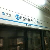 Photo taken at Chongshin Univ.(Isu) Stn. by Benjamin C. on 4/19/2012