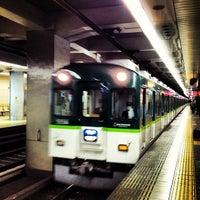 Photo taken at Keihan Temmabashi Station (KH03) by Mizuho S. on 2/14/2012