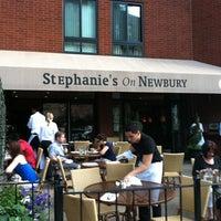 Photo taken at Stephanie's On Newbury by Stephanie L. on 7/8/2012