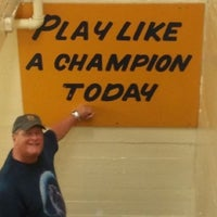 Photo taken at Notre Dame Stadium Locker Room by Mike on 9/8/2012