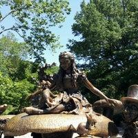 Photo taken at Alice in Wonderland Statue by Lttlewys on 6/23/2012