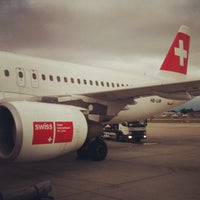 Photo taken at Geneva Cointrin International Airport (GVA) by Олег Р. on 9/2/2012