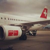 Photo taken at Geneva Cointrin International Airport (GVA) by Олег Р. on 9/2/2012