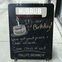 Photo taken at Hubbub Sandwiches by Danielle on 3/19/2012