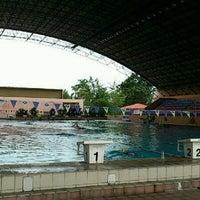 Photo taken at Kompleks Sukan Likas Swimming Pool by Vibrantkitty on 8/12/2012