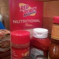 Photo taken at Red Robin Gourmet Burgers by Davey T. on 6/9/2012