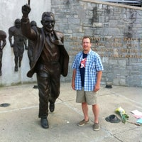 Photo taken at Joe Paterno Statue by John F. on 7/17/2012