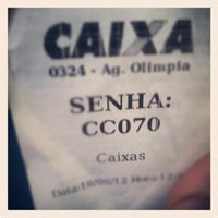Photo taken at Caixa Economica Federal by Willian Q. on 6/18/2012