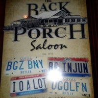 Photo taken at The Back Porch Saloon by Erica D. on 1/27/2012