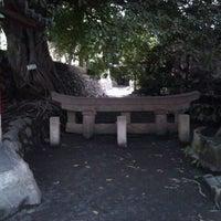 Photo taken at 黒神神社 埋没鳥居 by Tatsuya M. on 1/22/2012
