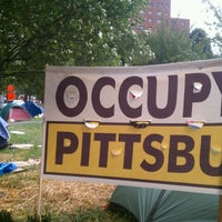 Photo taken at #OccupyPittsburgh by J. Allen B. on 10/19/2011