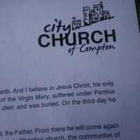 Photo taken at City Church of Compton by Mike H. on 10/30/2011