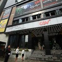 Photo taken at CGV Cheongdam Cinecity by Siegfrid on 10/9/2011
