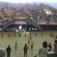 Photo taken at GOR Sang Bumi Ruwa Jurai (Saburai) by Ekfan S. on 3/18/2012