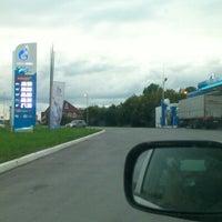 Photo taken at Газпромнефть АЗС № 97 by Юрий Т. on 9/5/2012
