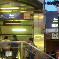 Photo taken at MRT Si Lom (SIL) by David S. on 9/14/2011